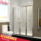 New Bifold Shower Enclosure Door 6mm Safety Glass Screen with 300mm Inline Panel