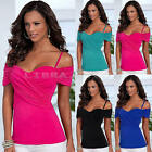 New Casual Womens Blouse Summer Short Sleeve Ladies Top T shirt Loose Tops GIFT
