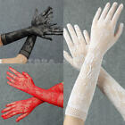 2 Pairs Women's Finger Arm Long Gloves Evening Wedding Bridal Party Accessory