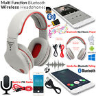 Foldable Stereo Bluetooth 4.1 Headset Wireless Stereo Headphones Mic For Samsung