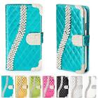 Bling Case Glitter Cover Shock Proof Flip Wallet Rhinestones Stand Card Pocket