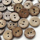 Upick 5 Sizes Brown Natural Coconut 2 Holes Craft Clothe Sewing Button