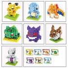 Anime Pokemon Pikachu Nano Blocks Diamond Mini Building Toys Pocket Monster