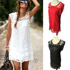 New Sexy Women O-neck Summer Casual Sleeveless Cocktail Short Mini Dress S-XXL