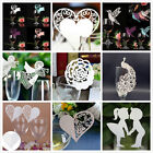 Lovely 50Pcs Name Place Cards For Wedding Party Table Wine Glass Decoration JR