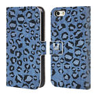 HEAD CASE DESIGNS PRINTED DENIM LEATHER BOOK CASE FOR APPLE iPHONE 5 5S SE