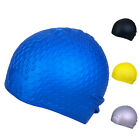 Adults Waterproof Healthy Silicone Stretch Swim Long Hair Cap Hat with Ear Cup