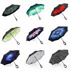 Double Layer Upside Down Inverted Umbrella Reverse Design Umbrella Windproof NEW