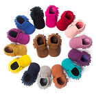 Newborn Baby Boy Crib Infant Toddler Girl Fringe Moccasins Soft Moccs Shoes