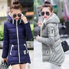 Hot Winter Women Warm Jacket Down Cotton Coat Hooded Slim Parka Outerwear