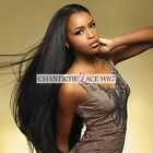 Indian Remy Human Hair Front/Full Lace Wigs Silky Straight Wig For Black Women