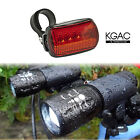 2xCREE Q5 LED Mountain Bike Bicycle Cycle Zoomable Front Light + 5 LED Rear Lamp