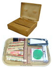 GRASSLEAF WOODEN BOX + RAW TRAY GIFT SET PAPERS/TIPS/GRINDER/ROLLING MACHINE
