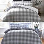 Bianca Check Cotton Print Duvet Quilt Cover Bedding Set