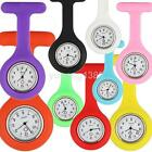 Portable Fob Watch Brooches Silicone Tunic Medical Nurse Watch Quartz with Clip