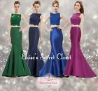 DEMI Various Colours Lace 2 Piece Maxi Prom Ballgown Evening Dress UK 6 - 18