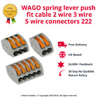 WAGO spring lever push fit cable 2 wire 3 wire 5 wire connectors 222