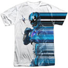 Power Rangers Movie Blue Streak Sublimation Poly Adult T Shirt