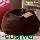 New D70cm Indoor Adults Bean Bag Beanbag Cover Reading Chair with Liner Canvas