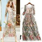 2017 spring occident embroidery makings fairy long lady dress wonderful S M L