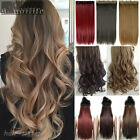 One Piece 3/4 Full Head Clip in on Hair Extension Real As Remy Human Hair SN0