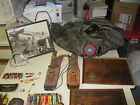 Mixed Lot of Vintage Military Medals PLACQUE FLIGHT JACKET PLANE PHOTO KMIFE ECT