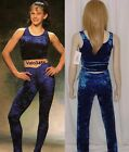 Classic Move Dance Costume Blue Velour Acro Tap Gymnastic Ballet Baton Clearance