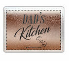 Dad's Kitchen Personalized Glass Chopping Board Any Text Image Logo