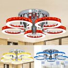 New Round Acrylic Chandelier Ceiling Light 29'' 5 LED Pendant Lamp Bedroom Home