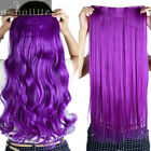 Clip in Full Head Hair Extensions Half Head 1pc Curly Straight Long Feel Human
