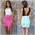 Hot Sexy Women Sleeveless V Back Evening Party Mini Dress Cocktail Slim N98B