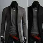 New Fashion Mens Luxury China Collar Long Blazer Jacket Jumper Coat Outwear Top
