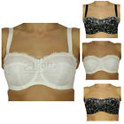 New Ladies BHS Body Bliss Multiway Black / Cream Embroidered Bra Sizes 34DD-38G
