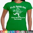 Drunk Guy On The Floor 1 Funny College Humor St Patricks Day Junior Tee T Shirt