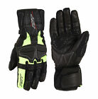 RST Mens T-145 Tour Waterproof Riding Gloves - Fluoro Yellow Motorcycle Street R