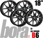 "18"" BOLA B6 BLACK 5 STUD 8J SET OF 4 NEW ALLOY WHEELS FOR Audi S4 12-ON"