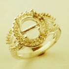 9x11 MM Semi Mount Cocktail Ring Oval Shape Eternity Gold Events Gift Jewelry