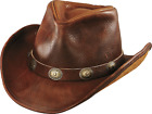 USA MADE Henschel Brown WALKER Raging Bull Leather Western Cowboy Hat + sizes