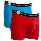 Sly Underwear 2 Pack Boxer Brief Teal/Red BUTPR2