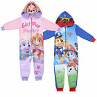 PAW Patrol Hooded Fleece Chase Skye Marshall Pup Power Pink Blue Pyjamas New