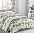 Catherine Lansfield Banbury Floral Duvet Cover Bedding Set Green