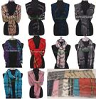 WHOLESALE Lot 10,12,24 100% Cashmere Scarf Plaid Scotland...