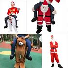 Santa Claus Snowman Teddy Carry Me Mascot Ride On Pants Christmas Fancy Dress