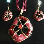 Jewelry Set Chain Acrylic Spider web Pendant Necklace Drop Earring Factory prics