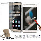 Tempered Glass & Soft TPU Protective Case & Finger Ring Cover For Huawei Phones