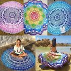 BOHO BEACH TOWEL OUTDOOR YOGA MAT HIPPIE ROUND MANDALA TAPESTRY WALL HANGING
