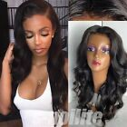 100% Remy Human Hair Wig Glueless Silk Top Lace Front/Full Lace Wigs Off Black s