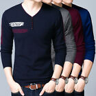 Men's Sweater  Slim Fit Solid color Knit shirts V-Neck Bottoming Shirt All Size