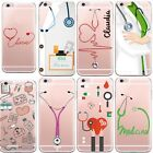 Cute Cartoon Medicine Doctor Case Clear Silicone Cover For iPhone 5s 6s 7 7 Plus