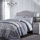 Catherine Lansfield Damask Jacquard Silver/Grey Luxury Duvet Cover Bedding Set
